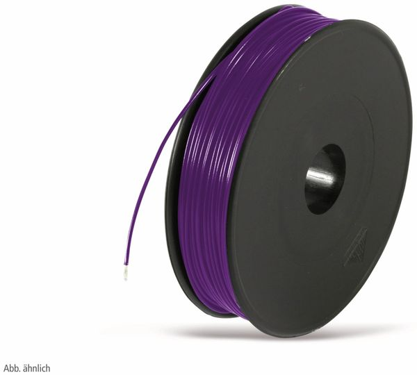 Litze, 1x0,14, 100m Spule, violett, LIYV