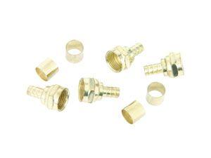 F-Stecker, 7 mm, Crimpmontage, 4 Stück