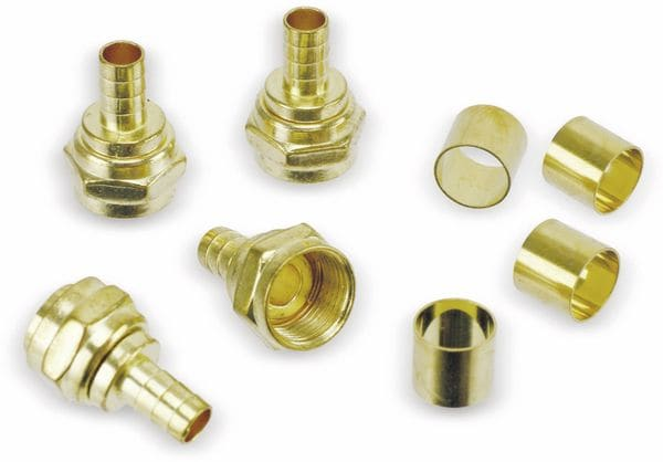 F-Stecker, 7,3 mm, Crimpmontage, 4 Stück