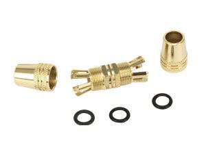 Koaxial-Kabelverbinder, vergoldet - Produktbild 1