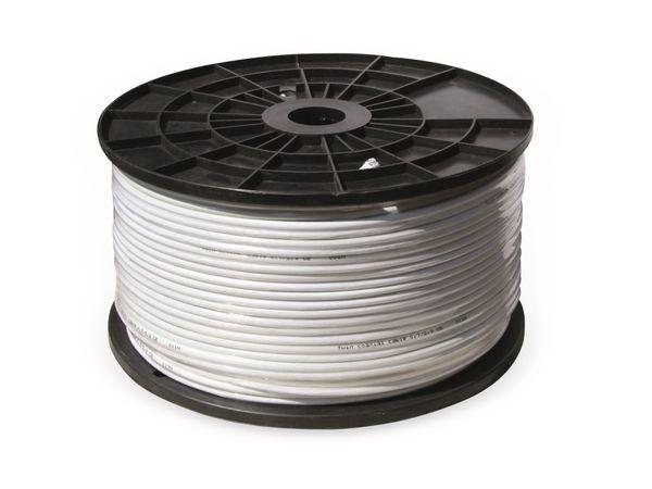 Koaxialkabel, 50 m, weiß, 6,6 mm, CCU, 75 Ω - Produktbild 2