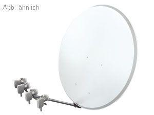 Multifeed SAT-Anlage für 4 Satelliten, Quad