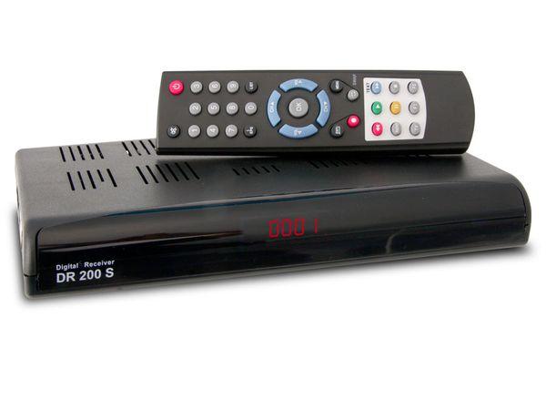 SAT-Receiver DR200S, schwarz - Produktbild 1
