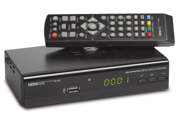SAT HDTV-Receiver mit Mediaplayer NEWline HD22 - Produktbild 1
