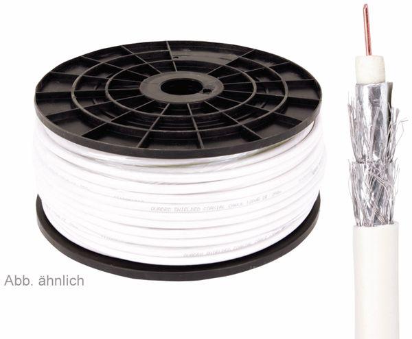 Koaxialkabel 75 Ω, 7,2 mm, 120 dB, 100 m, CCS