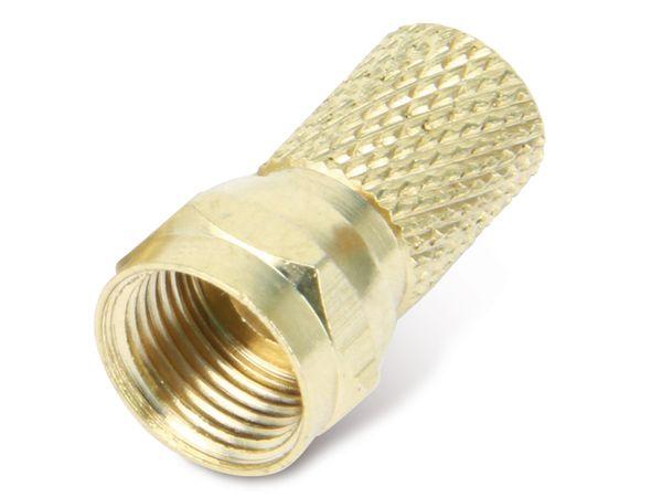 F-Stecker, 7,3 mm, Aufdrehmontage