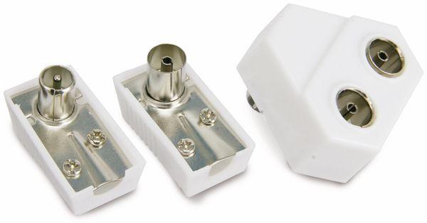 Radio-Antennenverteiler mit Steckersatz, 2-fach - Produktbild 1