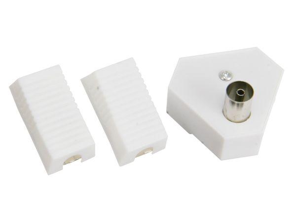 TV-Antennenverteiler mit Steckersatz, 2-fach - Produktbild 1