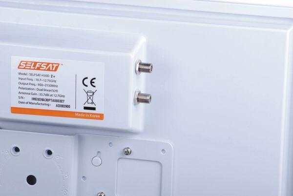 SAT-Flachantenne SELFSAT H30D+, Twin - Produktbild 2