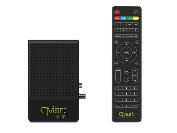 FullHD SAT-Receiver QVIART MINI, schwarz - Produktbild 1
