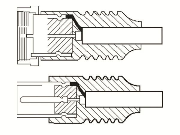 SAT-Antennenanschlusskabel, F-Stecker/Koaxstecker, weiß, 5 m - Produktbild 2