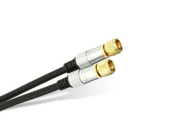 SAT-Antennenanschlusskabel SCHWAIGER FLS152 233, 2x F-Stecker, 110 dB, 5 m