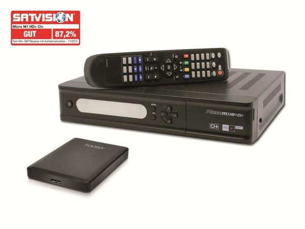 DVB-S HDTV Twin-Receiver MICRO M1HD+CI+ mit 500 GB USB 3.0-Festplatte - Produktbild 1