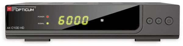 DVB-C HDTV-Receiver RED OPTICUM AX C100 HD, schwarz