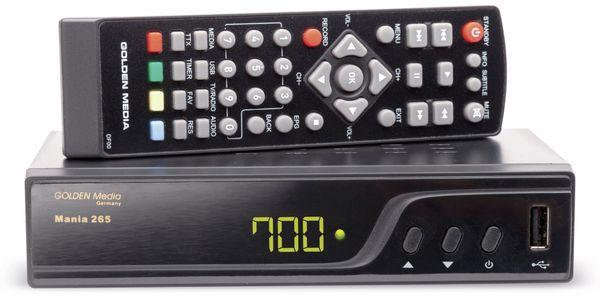 DVB-T2 Receiver GOLDEN MEDIA Mania 265 - Produktbild 1