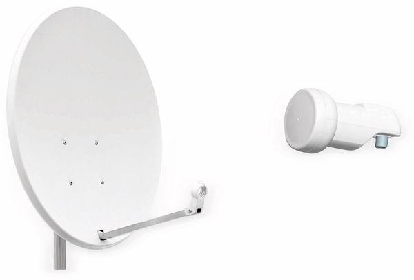 Set SAT-Antenne RED OPTICUM X80 lichtgrau, mit Single-LNB RED OPTICUM LSP-02G