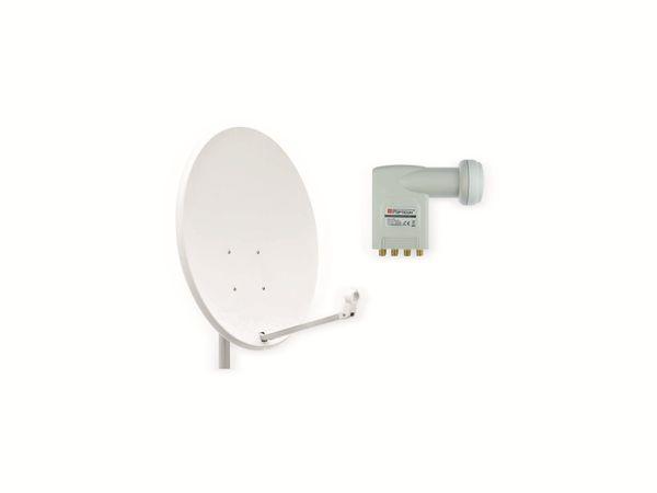 Set SAT-Antenne OPTICUM X80 lichtgrau, mit Octo-LNB OPTICUM LOP-04H