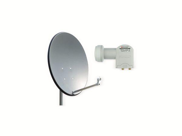 Set SAT-Antenne OPTICUM X80 anthrazit, mit Twin-LNB OPTICUM LTP-04H - Produktbild 1