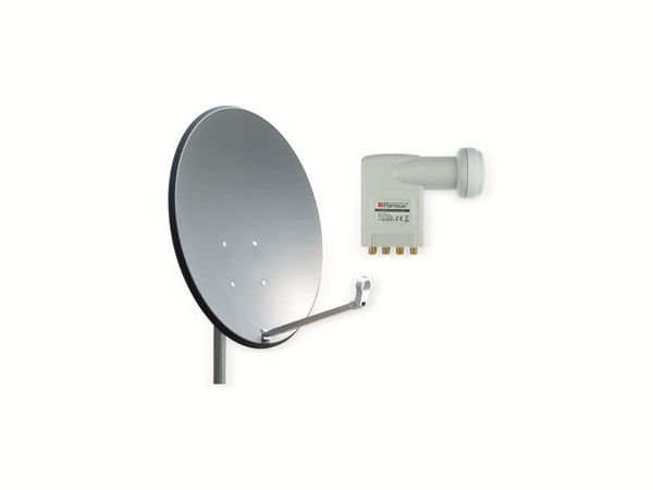Set SAT-Antenne OPTICUM X80 anthrazit, mit Octo-LNB OPTICUM LOP-04H - Produktbild 1