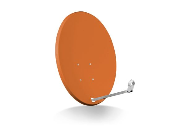 SAT-Antenne OPTICUM X80, Stahl, ziegelrot, 80 cm - Produktbild 1