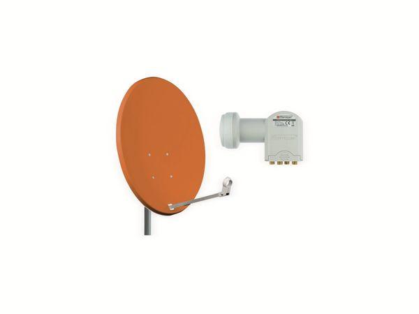 Set SAT-Antenne OPTICUM X80 ziegelrot, mit Quad-LNB OPTICUM LQP-04H - Produktbild 1