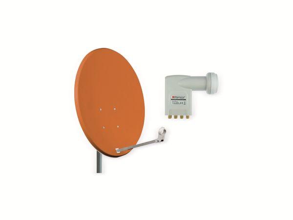Set SAT-Antenne OPTICUM X80 ziegelrot, mit Octo-LNB OPTICUM LOP-04H - Produktbild 1