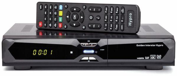 DVB-S2/T2/C Hybrid-Receiver, GOLDEN INTERSTAR Hypro 4K UHD, schwarz, B-Ware - Produktbild 1