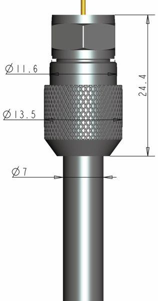 F-Stecker, PURELINK, 7 mm, verschraubbar, 5 Stück - Produktbild 4