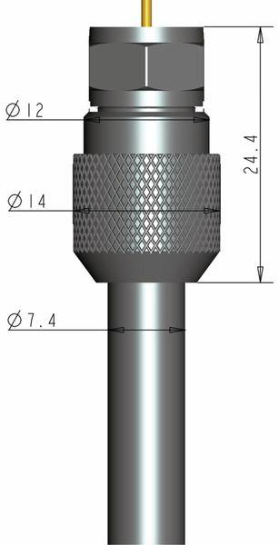 F-Stecker, PURELINK, 7,4 mm, verschraubbar, 5 Stück - Produktbild 4