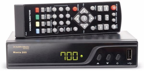 DVB-T2 Receiver GOLDEN MEDIA Mania 265, B-Ware