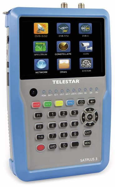 Antennenmessgerät TELESTAR SATPLUS 3, DVB-S/S2/T/T2/C, Sat-IP