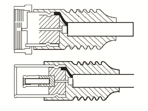 SAT-Antennenanschlusskabel, F-Stecker/Koaxkupplung, weiß, 1,5 m - Produktbild 2