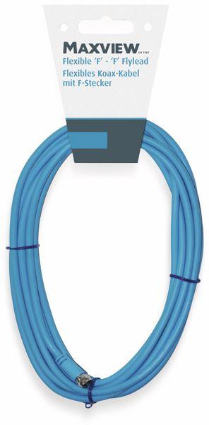 SAT-Antennenanschlusskabel, 2x F-Stecker, flexibel, blau, 5 m, 75 dB - Produktbild 2