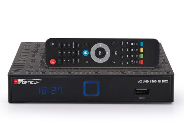 DVB-S HDTV Android TV-Box OPTICUM UHD 1500, UHD/4K - Produktbild 1