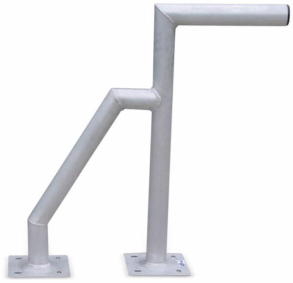 Aluminium Doppelrohr-Wandhalter, 600 mm
