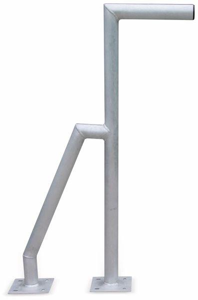 Aluminium Doppelrohr-Wandhalter, 1000 mm