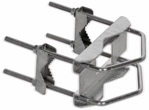 Kreuzschelle, Stahl, 60...130 mm Masten