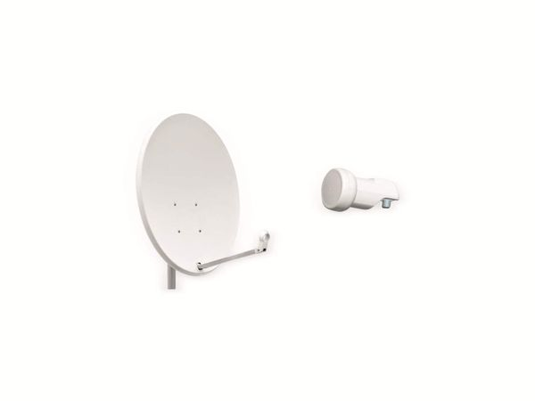 Set SAT-Antenne OPTICUM QA60 lichtgrau, mit Single-LNB OPTICUM LSP-02G