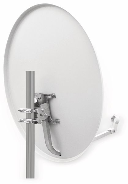 Set SAT-Antenne RED OPTICUM QA60 lichtgrau, mit Quad-LNB RED OPTICUM LQP-04H - Produktbild 2