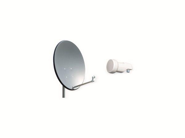 Set SAT-Antenne OPTICUM QA60 anthrazit, mit Single-LNB OPTICUM LSP-02G