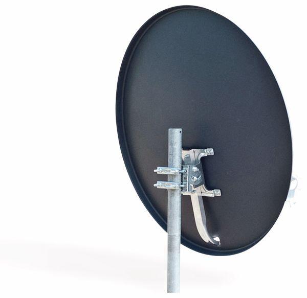 Set SAT-Antenne RED OPTICUM QA60 anthrazit, mit Single-LNB RED OPTICUM LSP-02G - Produktbild 2