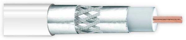 Koaxialkabel ANKASAT, 100 m, weiß, 6,8 mm, CCS, 120 dB