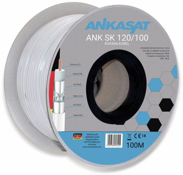 Koaxialkabel ANKASAT, 100 m, weiß, 6,8 mm, CCS, 120 dB - Produktbild 2
