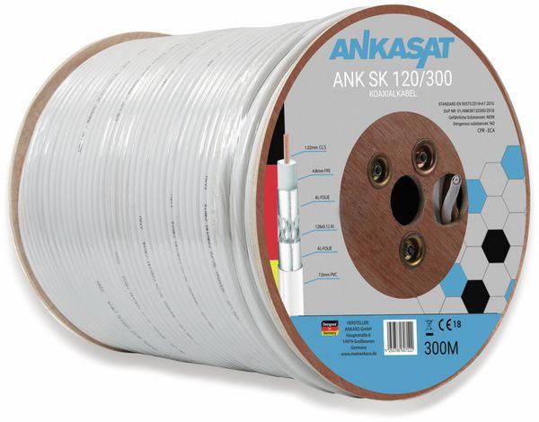 Koaxialkabel ANKASAT, 300 m, weiß, 6,8 mm, CCS, 120 dB - Produktbild 2