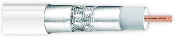 Koaxialkabel ANKASAT, 100 m, weiß, 6,8 mm, CU, 120 dB