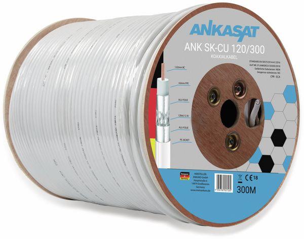 Koaxialkabel ANKASAT, 300 m, weiß, 6,8 mm, CU, 120 dB - Produktbild 2