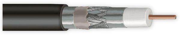 Koaxialkabel ANKASAT, 100 m, schwarz, 6,8 mm, CU, 120 dB