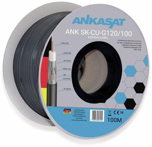 Koaxialkabel ANKASAT, 100 m, schwarz, 6,8 mm, CU, 120 dB - Produktbild 2