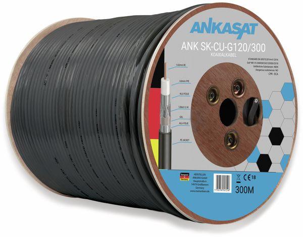 Koaxialkabel ANKASAT, 300 m, schwarz, 6,8 mm, CU, 120 dB - Produktbild 2