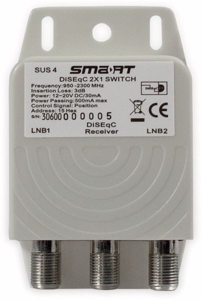 DiSEqC-Schalter SMART SUS4, 2/1
